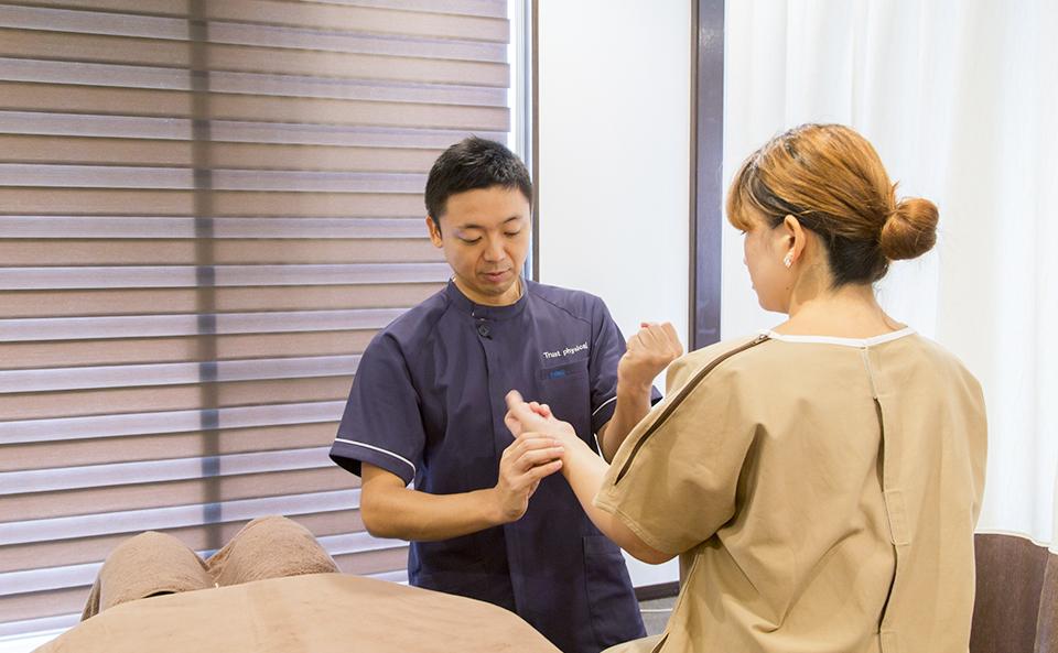 当院は施術効果を最大限引き出せるように、施術前の検査に重きを置いています。