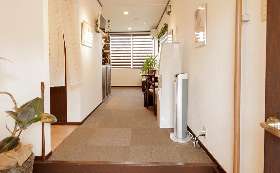 てんびん鍼灸治療院 待合室